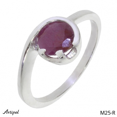 Bracelet Amber B 70-01 - Jewellery in rhodium silver, Amber cabochon