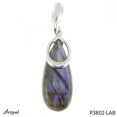 Pendant with real Lapis-lazuli - European product French style - Jewellery in silver - Ref P 34-02