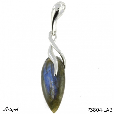 Pendant with real Black onyx - European product French style - Jewellery in silver - Ref P-34-02