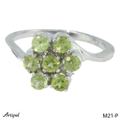 Ring Blue Topaz silver gilded