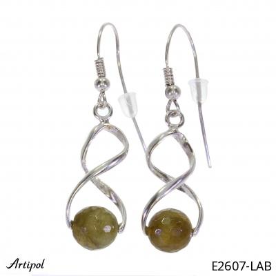 Boucles d'oreilles en Pierre de lune E 62-01 - Bijoux en argent rhodié et Pierre de lune en cabochon