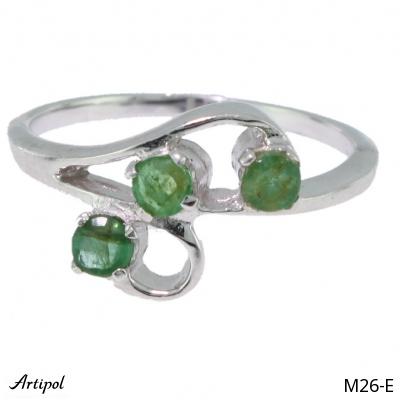 Ring Amethyst silver gilded