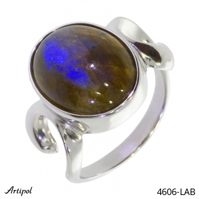 Ring with real Black onyx - European product French style - Jewellery in rhodium silver - Ref 38-03