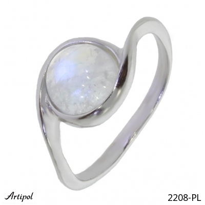 Ring with real Amber - European product French style - Jewellery in rhodium silver - Ref 38-03