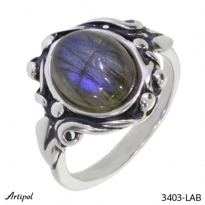 Ring Amber silver gilded