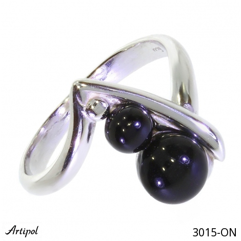 Ring Amber silver gilded 30-08