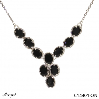 Earrings with real Tiger Eye - European product French style - Jewellery in rhodium silver - Ref E-62-03