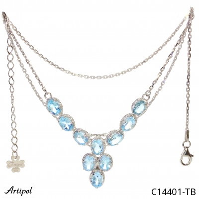 Earrings with real Lapis-lazuli - European product French style - Jewellery in rhodium silver - Ref E-62-03