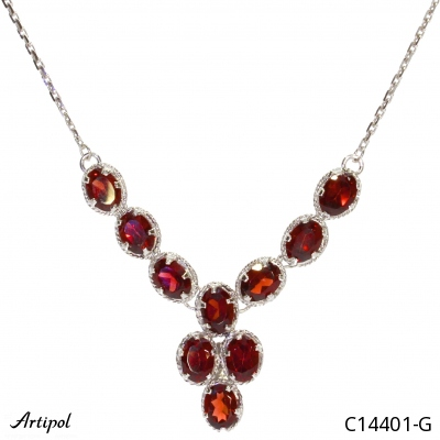 Earrings with real Amethyst - European product French style - Jewellery in rhodium silver - Ref E-62-03