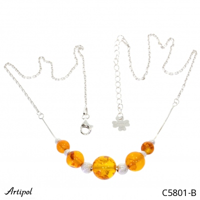 Earrings with real Amethyst - European product French style - Jewellery in rhodium silver - Ref E-38-04