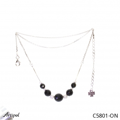 Earrings with real Rainbow Moonstone - European product French style - Jewellery in rhodium silver - Ref E-38-04