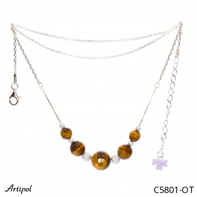 Earrings with real Turquoise - European product French style - Jewellery in rhodium silver - Ref E-38-04
