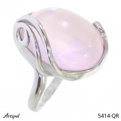 Ring Blue Topaz silver gilded