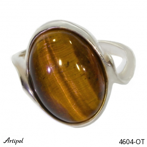 Ring Amber silver gilded 38-16