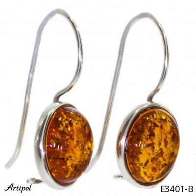 Earrings with real Rainbow Moonstone - European product French style - Jewellery in rhodium silver - Ref E-50-01