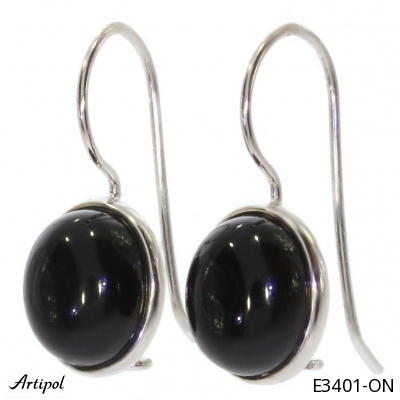 Earrings with real Quartz rose - European product French style - Jewellery in rhodium silver - Ref E-58-06