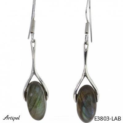 Earrings Garnet silver gilded