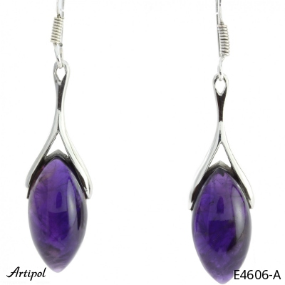 Earrings Amethyst silver gilded