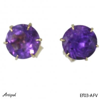 Earrings Amethyst faceted