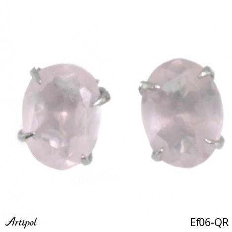 Earrings Amethyst silver gilded Ef-34