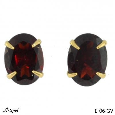 Earrings Blue Topaz silver gilded