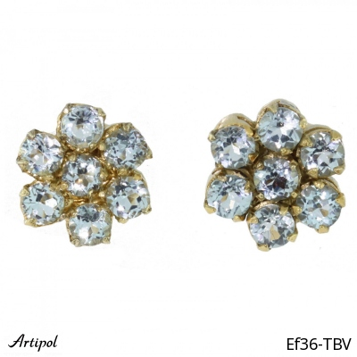 Earrings Amethyst silver gilded
