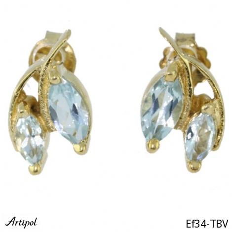 Earrings Blue Topaz Ef-30