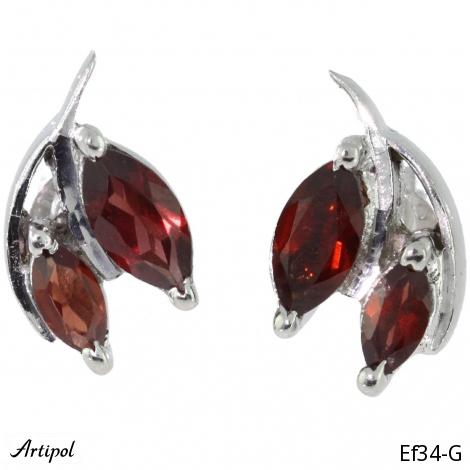Earrings Blue Topaz silver gilded Ef 30