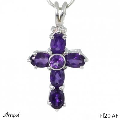 Pendant Blue Topaz silver gilded