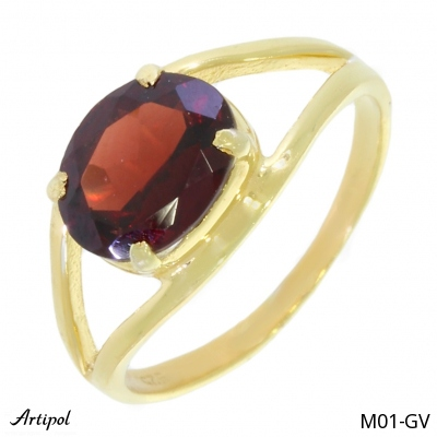 Ring Amethyst silver gilded