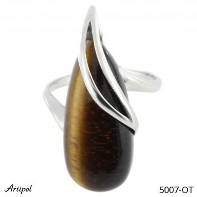 Bracelet en Ambre B 126-01 - Bijoux en argent rhodié et Ambre en cabochon