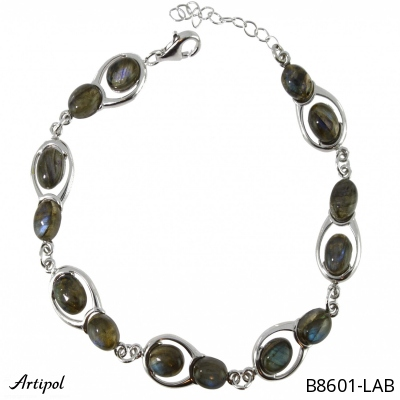 Bracelet with real Amber - European product French style - Jewellery in rhodium silver - Ref B-102-01