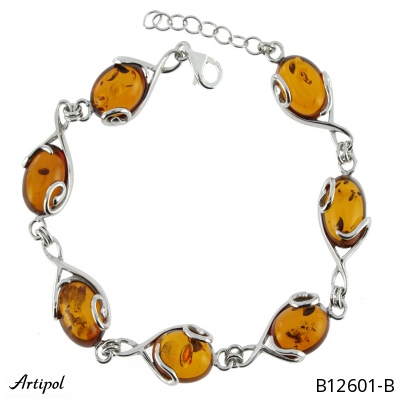 Bracelet with real Labradorite - European product French style - Jewellery in rhodium silver - Ref B-174-01